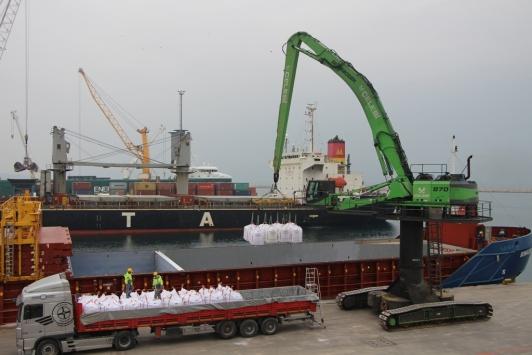 Bandırma Limanında geçen yıl yaklaşık 5 milyon tonluk yükleme boşaltma yapıldı