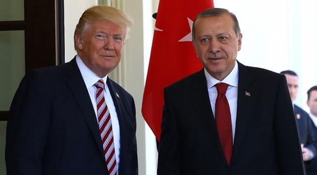 Cumhurbaşkanı Erdoğan ABD Başkanı Trump ile görüştü