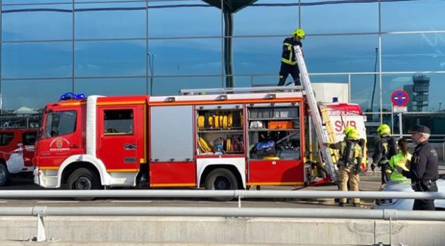 İspanyada havalimanında yangın