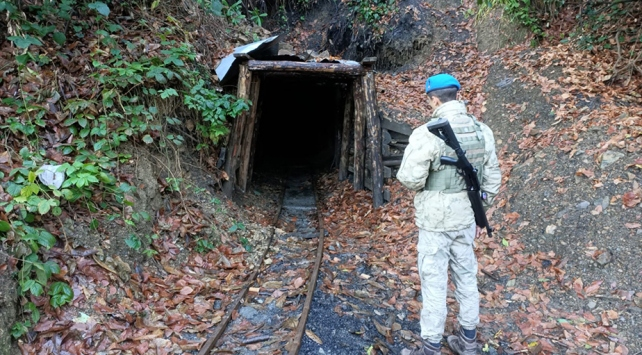 Zonguldakta 5 ruhsatsız maden ocağı imha edildi