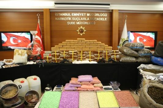 İstanbulda uyuşturucu operasyonlarında 13 kişi tutuklandı