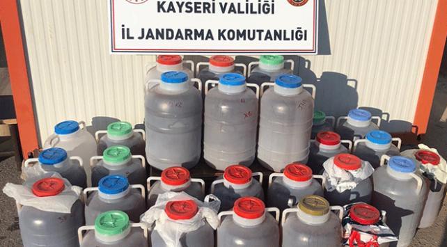 Kayseride bin 62 litre sahte içki ele geçirildi