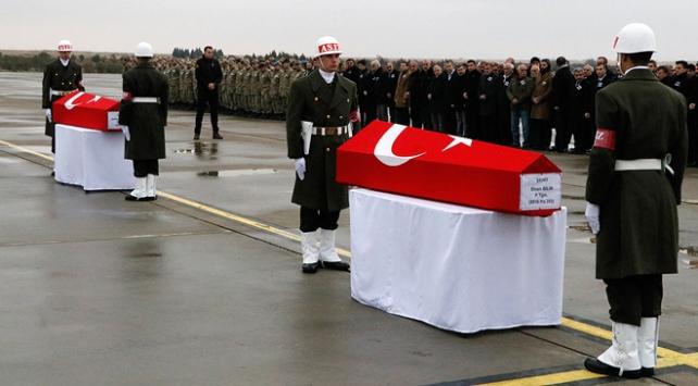 Şehit düşen 3 asker ebediyete uğurlandı
