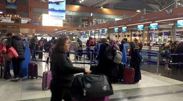 Yarıyıl tatili Sabiha Gökçen Havalimanına hareketlilik getirdi