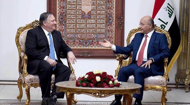 Irak Cumhurbaşkanı Salih ve ABD Dışişleri Bakanı Pompeo DEAŞı görüştü