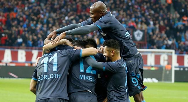 Trabzonspordan farklı galibiyet