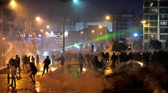 Lübnandaki protesto gösterilerinde 114 kişi yaralandı