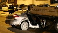 Ankara'da otomobil tırın altına girdi: 1 yaralı