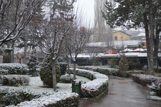 Havzada kar yağışı etkili oldu
