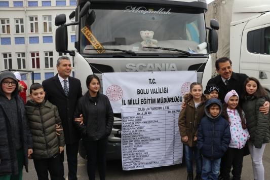 Boludan İdlib için toplanan yardımları taşıyan 9 tır yola çıktı