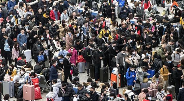 Çinin uzun yeni yıl tatili virüsü yayabilir