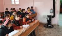 Rasulayn'da öğrenciler sıcak sınıflarında dersbaşı yaptı