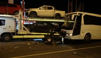 Uşak'ta yolcu otobüsü kaza yaptı: 13 yaralı