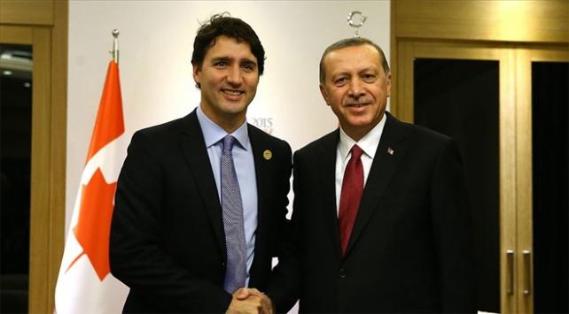 Cumhurbaşkanı Erdoğan Kanada Başbakanı Trudeau ile görüştü