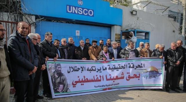 Holokost Forumu Gazzede protesto edildi