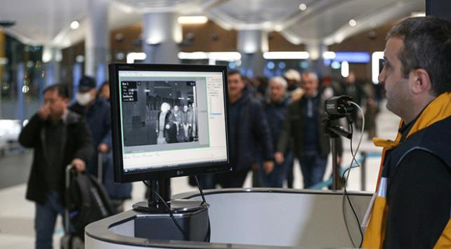 Çinden gelen yolcular, İstanbul Havalimanında termal kameralarla kontrol edildi