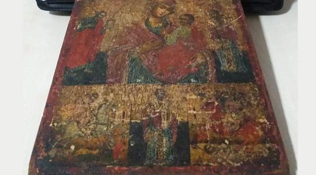 Mersinde Hazreti İsanın tasvir edildiği tablo ele geçirildi