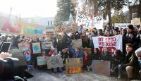 Çevreciler Davos'ta protesto düzenledi