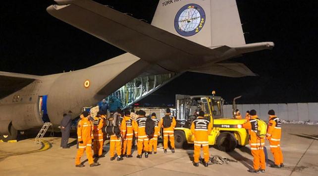 TSKya ait 9uncu uçak da Elazığa intikal etti