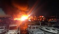 Dragos sahilinde 6 teknede yangın