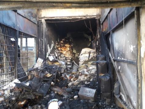Karsta çıkan yangında 6 iş yeri kullanılamaz hale geldi