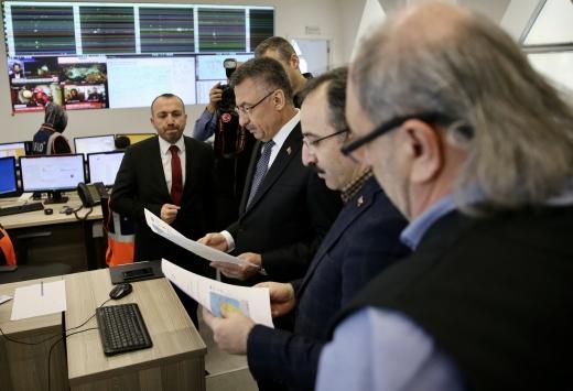 Cumhurbaşkanı Yardımcısı Fuat Oktay, AFADı ziyaret etti