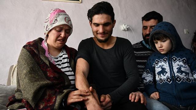Suriyeli gencin enkazdan kurtardığı çiftle duygusal buluşması