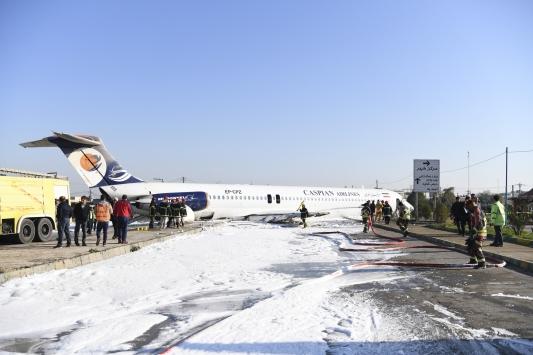 İranda yolcu uçağı iniş sırasında pistten çıktı