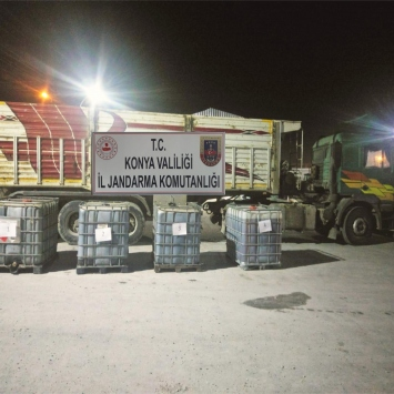 Konyada 4 bin litre kaçak akaryakıt ele geçirildi
