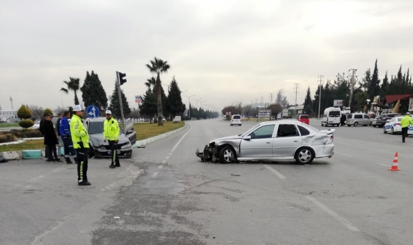 Kahramanmaraşta trafik kazası: 3 yaralı