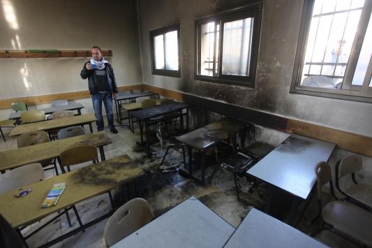 Yahudi yerleşimciler Batı Şeriada okul yaktı