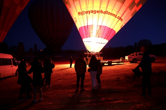 Kapadokyayı geçen yıl 585 bin turist gökyüzünden izledi