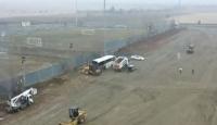 Elazığ'daki konteyner kent çalışmalarını TRT Haber görüntüledi