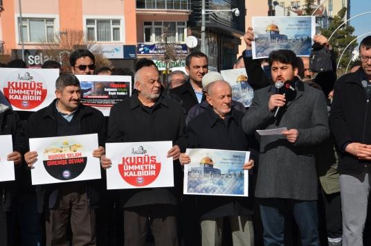 Karamanda ABDnin sözde Ortadoğu Barış Planı protesto edildi
