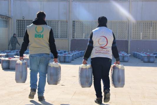 Katar Hayır Kurumundan İdlibe yakacak yardımı