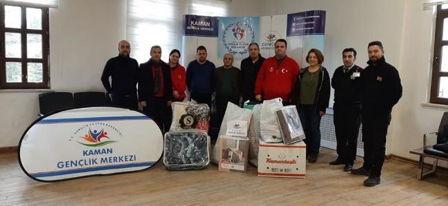 Kamandan depremzedelere yardım