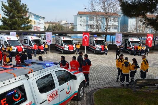 Batmana gönderilen 7 yeni ambulans hizmete alındı