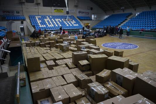 Edirneden deprem bölgesine 4 yardım tırı gönderildi