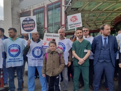 Orduda sağlık çalışanına şiddet protesto edildi