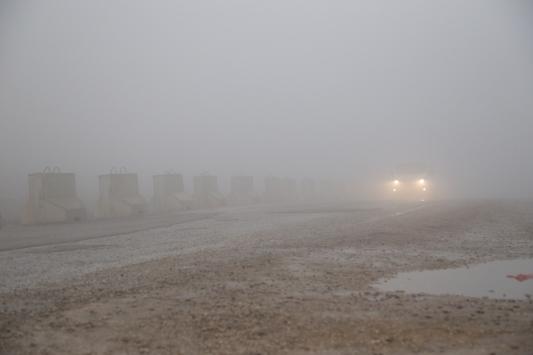 Kiliste yoğun sis