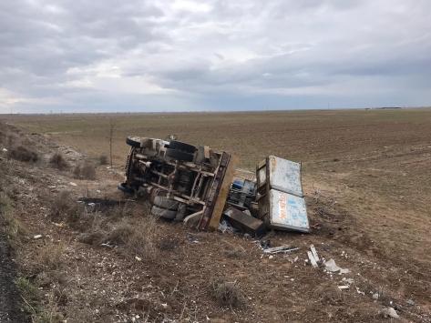 Aksarayda kamyonet kazası: 2 yaralı