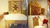 Osmanlı mirası altın varaklı eserler, aslına sadık kalınarak restore ediliyor