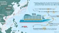 Vaka sayısının 20'ye yükseldiği yolcu gemisinin rotası