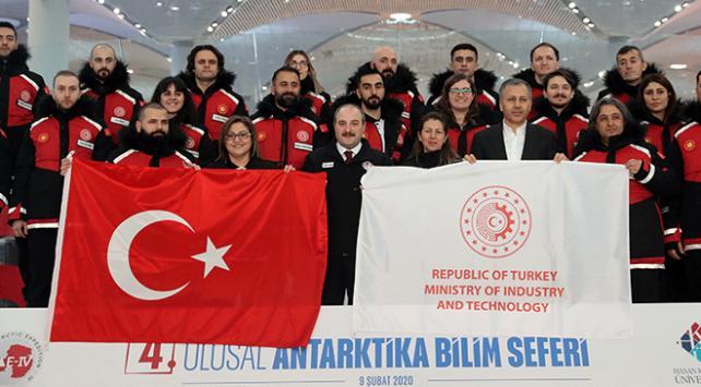 4. Ulusal Antarktika Bilim Seferi için ekip yola çıktı