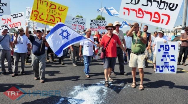 İsrailde Kriz Protestoları Sürüyor