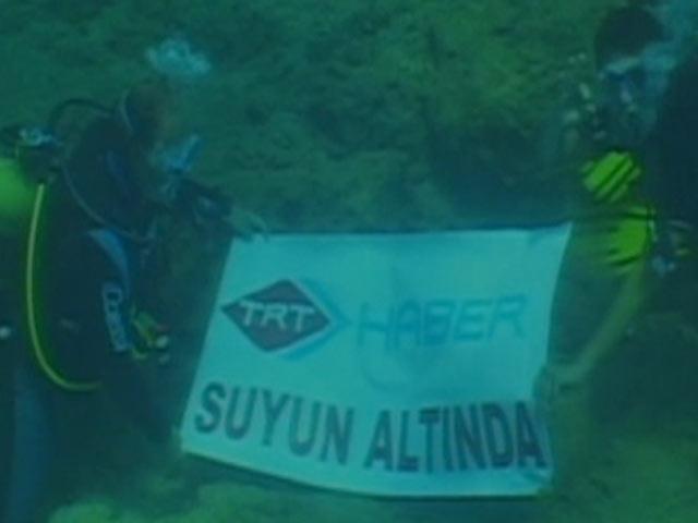 TRT Ekibi Canlı Yayında Dalış Gerçekleştirdi