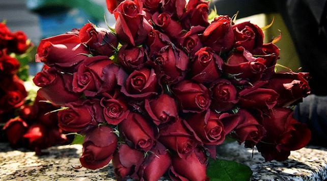 """Çiçek mezatlarında """"14 Şubat"""" mesaisi"""