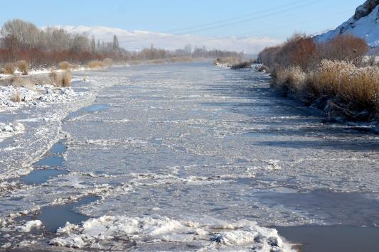 Sivasta Kızılırmak ve bazı göller buz tuttu