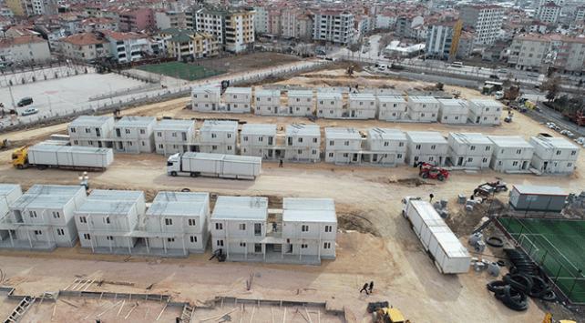Elazığda konteyner kentler oluşturuluyor