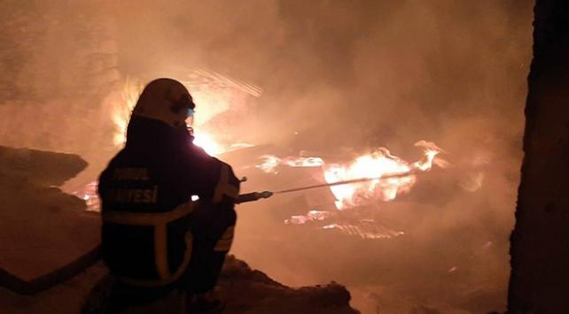 Gümüşhane ve Kayseride yangın